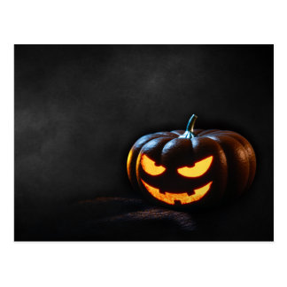 Halloween Pumpkin Jack-O-Lantern Spooky Postcard
