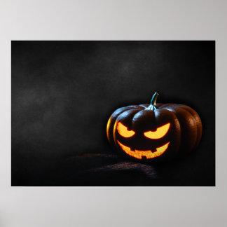 Halloween Pumpkin Jack-O-Lantern Spooky Poster