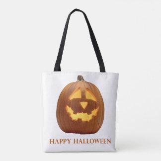 Halloween Pumpkin Jack O Lantern Tote