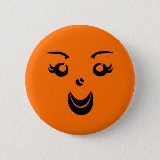 Halloween Pumpkin Lady 6 Cm Round Badge