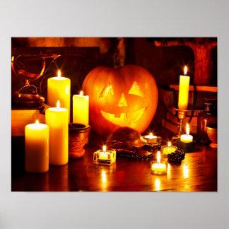 Halloween pumpkin lantern poster
