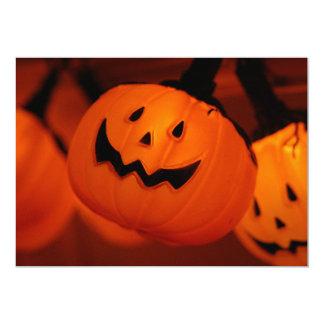 "Halloween Pumpkin Lighting Invitation 5"" X 7"" Invitation Card"