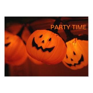 "Halloween Pumpkin Lighting Party Time Invitation 5"" X 7"" Invitation Card"