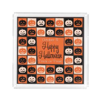 Halloween pumpkin mosaic