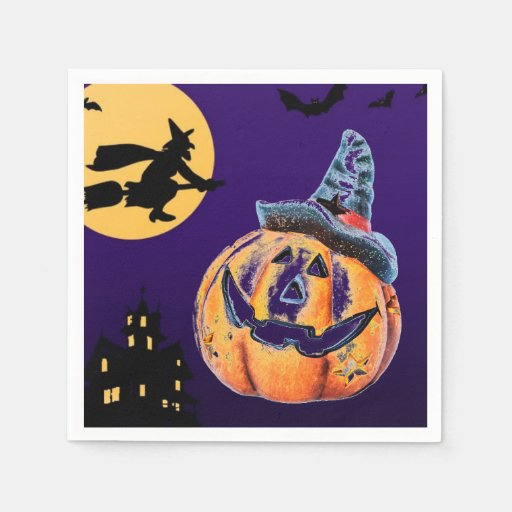 Halloween Pumpkin Paper Napkin
