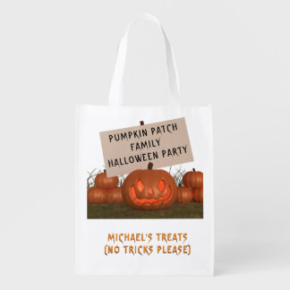 Halloween Pumpkin Patch Personalised Treat Bag