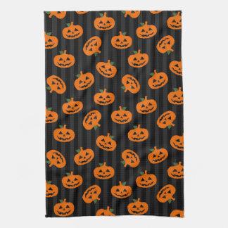 Halloween Pumpkin Pattern Hand Towels