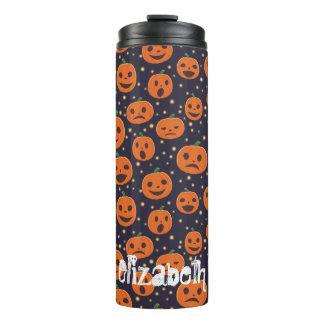 Halloween Pumpkin Pattern Jack-o-Lantern Festive Thermal Tumbler
