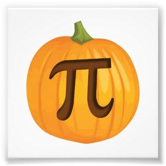 Halloween Pumpkin Pie Pi Photographic Print