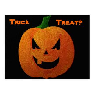 Halloween Pumpkin Post Card