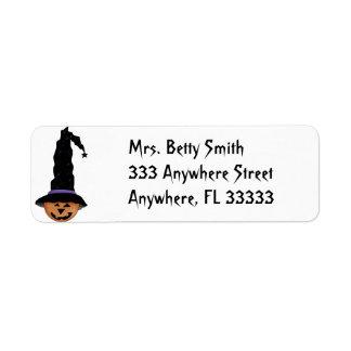 Halloween Pumpkin return address labels