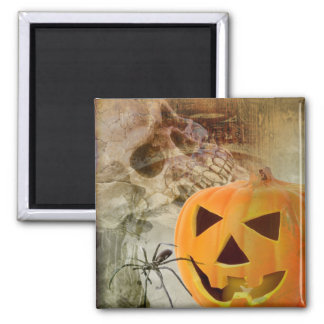 Halloween Pumpkin Square Magnet