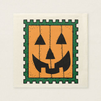 HALLOWEEN PUMPKIN STAMP DISPOSABLE NAPKINS