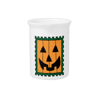 HALLOWEEN PUMPKIN STAMP DRINK PITCHER