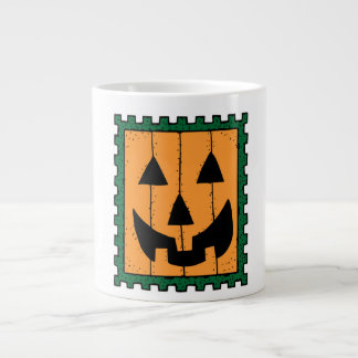 HALLOWEEN PUMPKIN STAMP JUMBO MUG