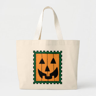HALLOWEEN PUMPKIN STAMP JUMBO TOTE BAG