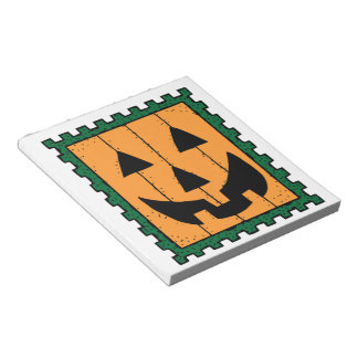 HALLOWEEN PUMPKIN STAMP MEMO NOTEPAD