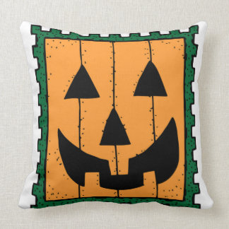 HALLOWEEN PUMPKIN STAMP THROW CUSHIONS