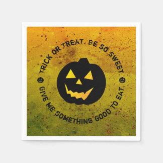 Halloween Pumpkin Trick or Treat Paper Napkins