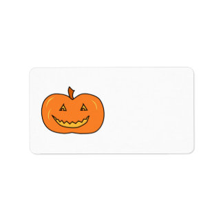 Halloween Pumpkin with Grin. Address Label