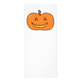 Halloween Pumpkin with Grin. Personalized Rack Card