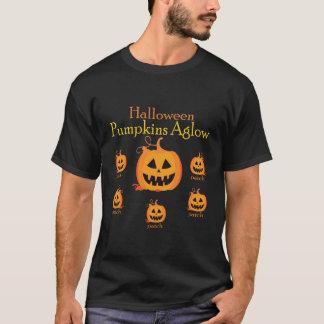 Halloween pumpkins Aglow tshirt
