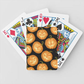 Halloween pumpkins bicycle playing cards