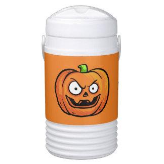 Halloween Pumpkins custom monogram beverage cooler