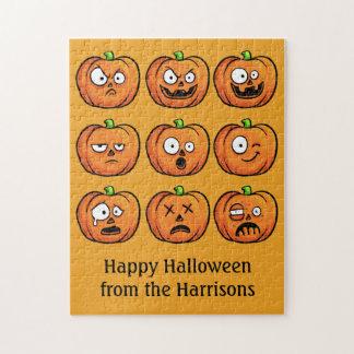 Halloween Pumpkins custom text puzzle