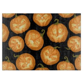 Halloween pumpkins cutting board