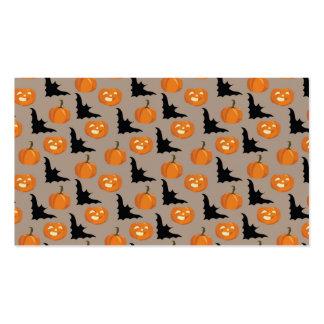 Halloween Pumpkins & Flying Bats Pack Of Standard Business Cards