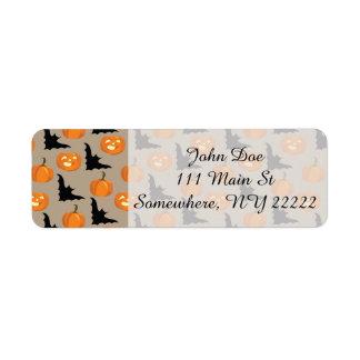 Halloween Pumpkins & Flying Bats Return Address Label
