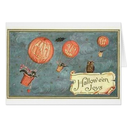 Halloween Pumpkins Flying Card