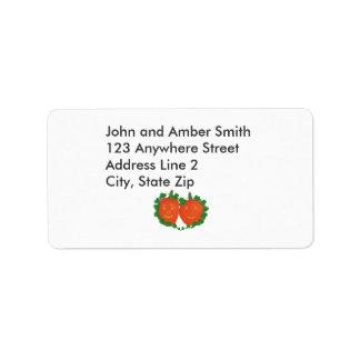 Halloween Pumpkins in Love Address Labels