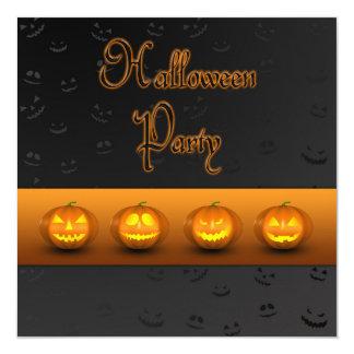 Halloween Pumpkins Jack-o-Lantern Party Invitation