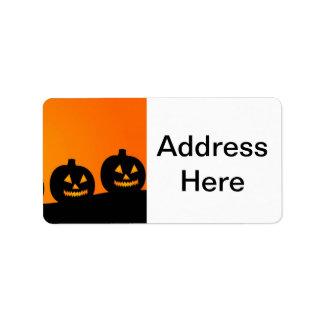Halloween Pumpkins Address Label