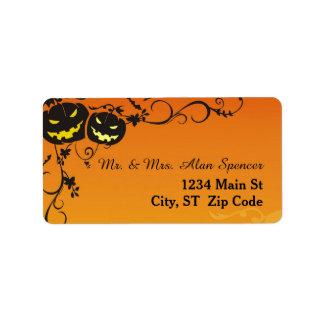 Halloween Pumpkins Medium Address Labels