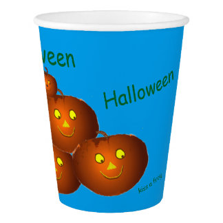 Halloween Pumpkins Paper Cup