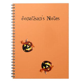 Halloween Pumpkins Playing Notebooks