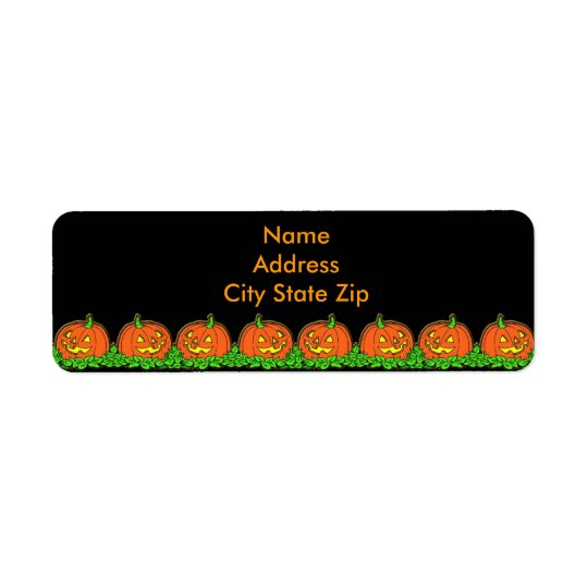 Halloween Pumpkins Return Address Label