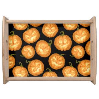 Halloween pumpkins serving tray