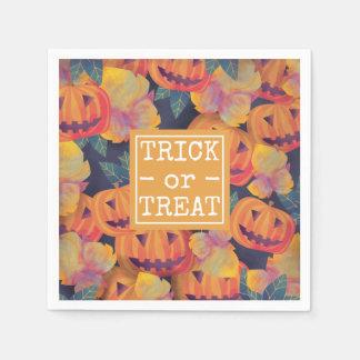 Halloween Pumpkins Trick or Treat   Napkin Disposable Napkin