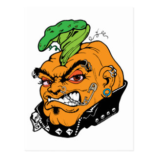 Halloween Punkin'! Postcard