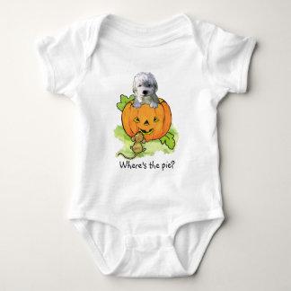 Hallowe'en puppy baby bodysuit