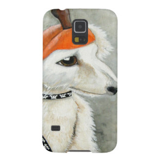 Halloween Puppy with Pumpkin Hat Cases For Galaxy S5