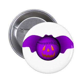 Halloween Purple Baseball Bat Pinback Buttons