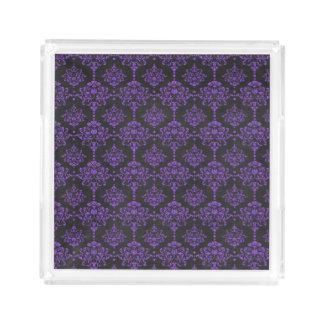 Halloween Purple Damask Chalkboard Pattern