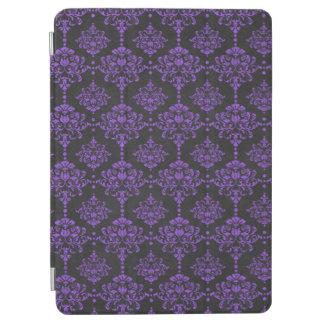 Halloween Purple Damask Chalkboard Pattern iPad Air Cover