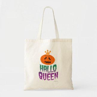 Halloween Queen Slogan Tote Bag