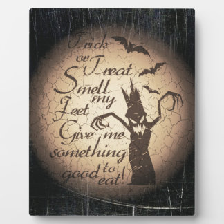 halloween quote plaque